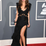 Actress Lea Michele arrives at The 53rd Annual GRAMMY Awards held at Staples Center on February 13, 2011 in Los Angeles, California