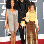 (L-R) Jada Pinkett Smith, Will Smith and Jaden Smith arrive at The 53rd Annual GRAMMY Awards held at Staples Center on February 13, 2011 in Los Angeles, California