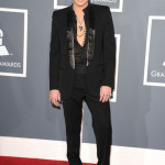 Singer Adam Lambert arrives at The 53rd Annual GRAMMY Awards held at Staples Center on February 13, 2011 in Los Angeles, California