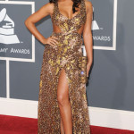 Singer Aleesia arrives at The 53rd Annual GRAMMY Awards held at Staples Center on February 13, 2011 in Los Angeles, California