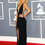rihanna black dress grammys 2012